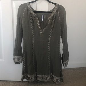 Olive green tunic top/dress